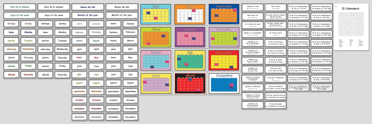 Calendario Montessori.El Calendario